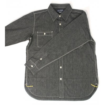 Chambray Work Shirt - Black (Salt & Pepper)