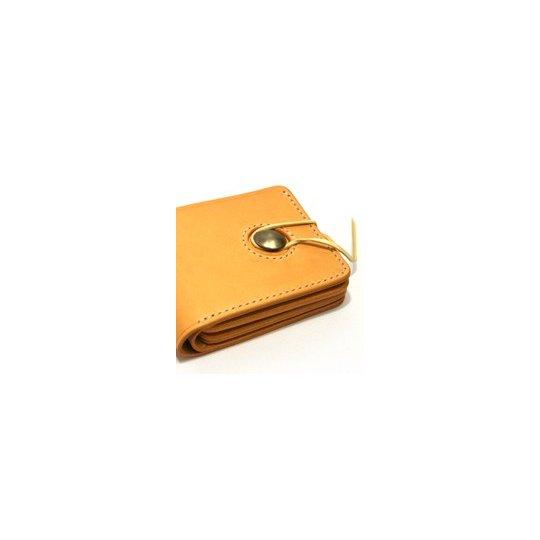 Steer Shoulder Leather - Small Natural Tan Wallet