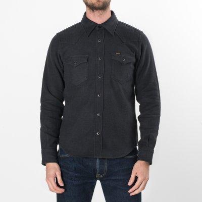 Charcoal Ultra Heavy Plain Flannel Western
