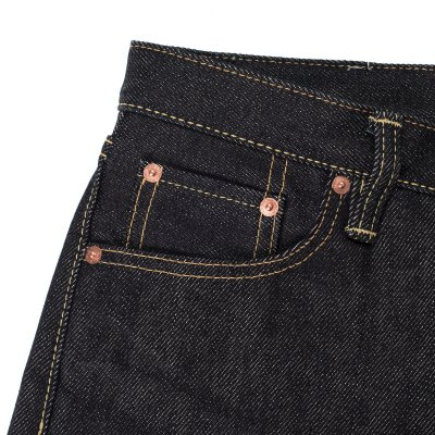 Indigo 21oz Raw Denim Pronto Super Slim Cut