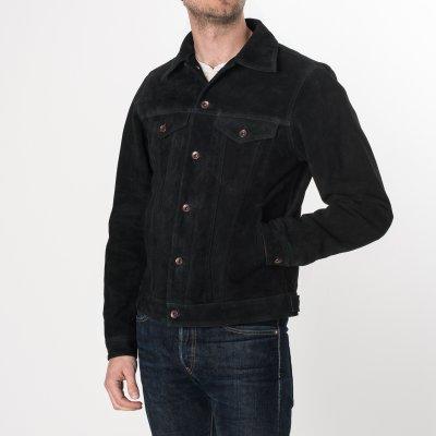 Black Split Cowhide Leather Type III