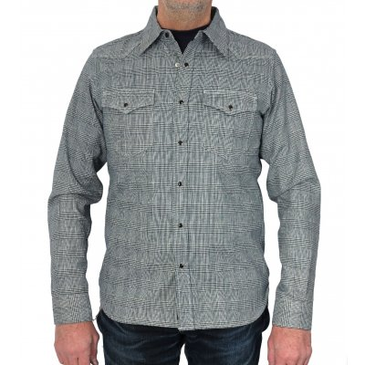 Indigo Dyed Prince of Wales Flannel Western