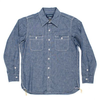 Blue 10oz Selvedge Chambray Work Shirt