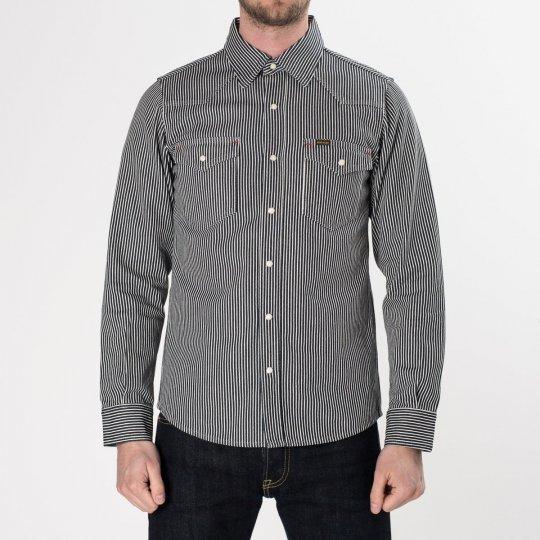 Indigo Hickory Stripe Western Shirt