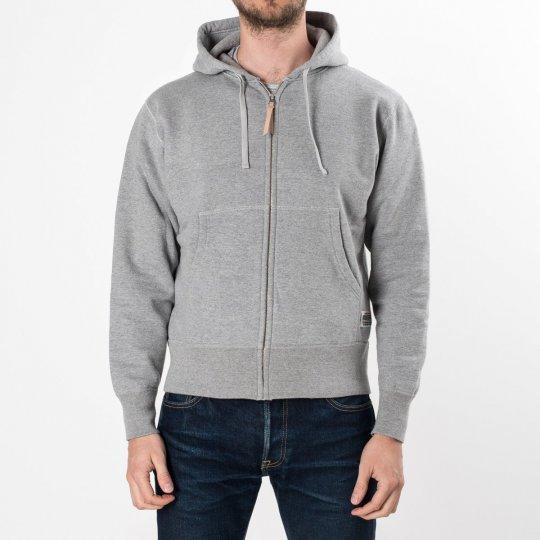 Grey Ultra Heavy Plain Hooded Sweat