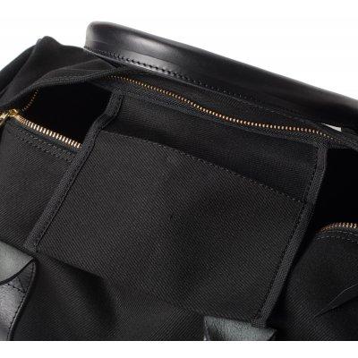 Leather and Super Black Denim Holdall