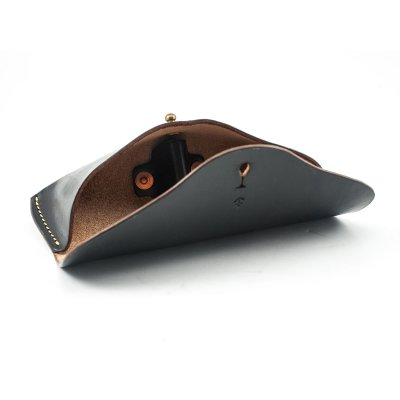 The W & Anchor Leather Glasses Case No. 1