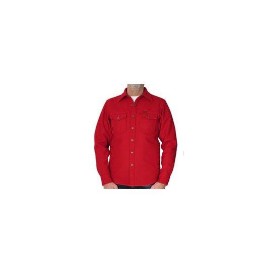 Melton Wool Shirt - Navy or Red