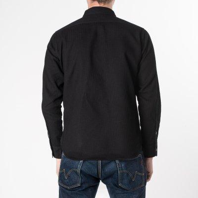 Black Waffle Work Shirt