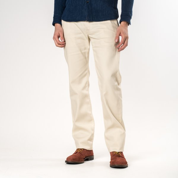 Ivory 9oz Selvedge Mercerised Cotton Chinos