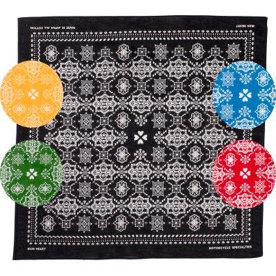 "IH ""Bell"" Print Bandana - Black, Red, Green, Yellow and Blue"