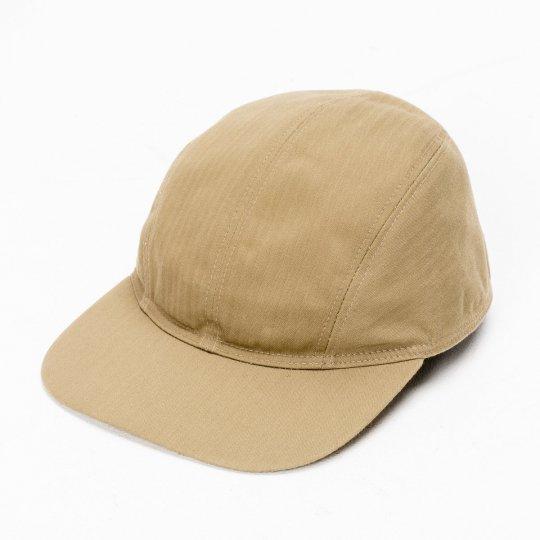 """Papa Nui """"Honolulu Tan"""" Cotton Herringbone Marauder's Cap"""