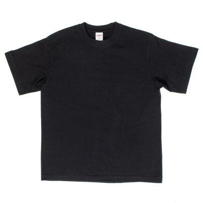 Plain Black Iron Heart 7.5oz Loopwheel T-Shirts
