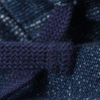 Indigo Fleece Lined Hooded Sweat
