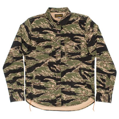 Green Tiger Stripe Camouflage CPO Shirt