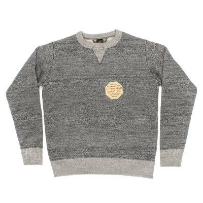 Heavy Loopwheel Fleece Lined Sweater - Grey Marl