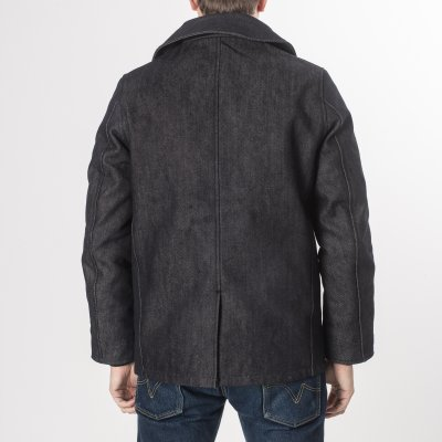 Indigo 21oz Selvedge Denim Pea Coat