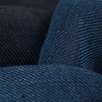 Linen Denim Sawtooth Western Shirt - Light Indigo
