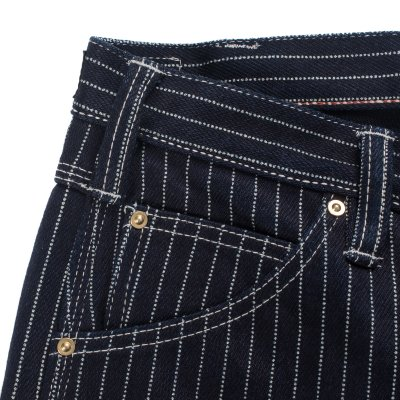 Indigo 21oz Wabash Single Knee Slim Cut Logger Jeans