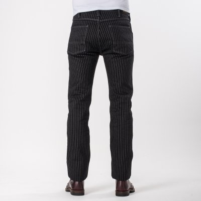 Black 21oz Wabash Single Knee Slim Cut Logger Jeans
