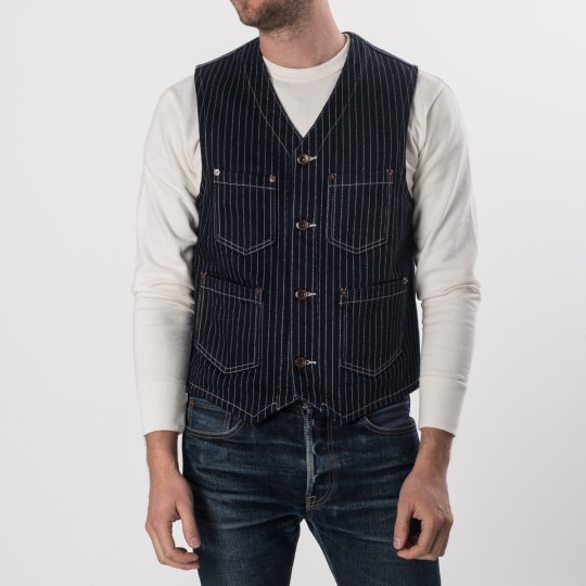 21oz Indigo Wabash/Navy Duck Work Vest