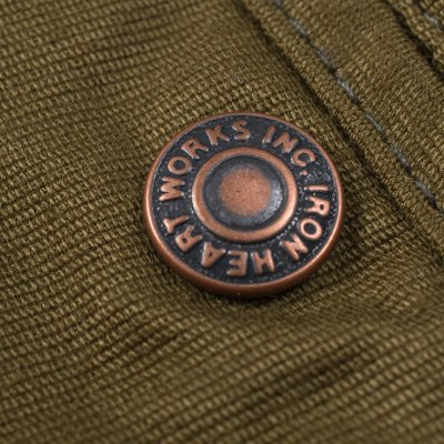 Olive Cotton Whipcord Work Pants