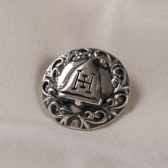 Iron Heart Liberty Bell Silver Pin