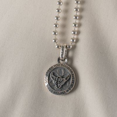 GOOD ART HLYWD Saint Christopher Pendant with Wheel and Wings on Reverse
