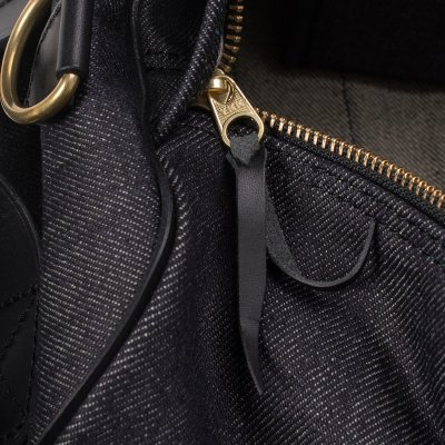 Leather and Indigo 21oz Denim Holdall
