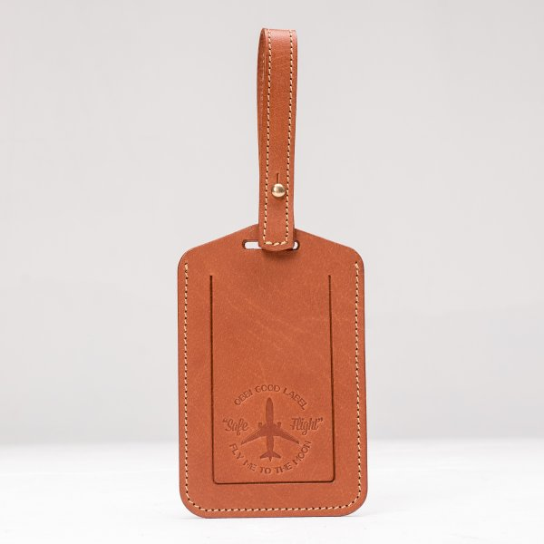 OGL FMTTM Leather Luggage Tag Tan