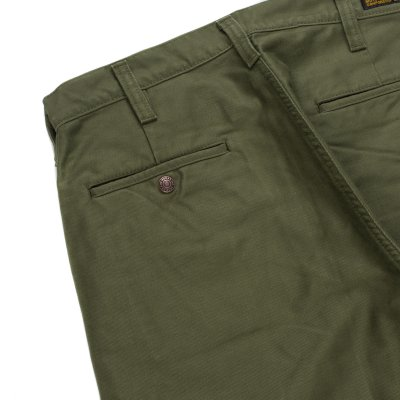 Pale Olive Cotton Whipcord Work Pants