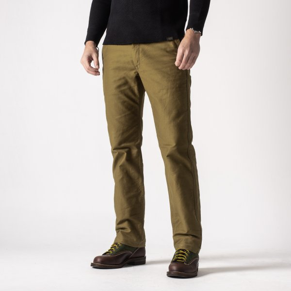 Khaki Cotton Whipcord Work Pants