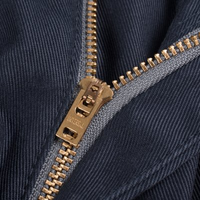 Navy Mercerised Selvedge Cotton Slim Tapered Chinos
