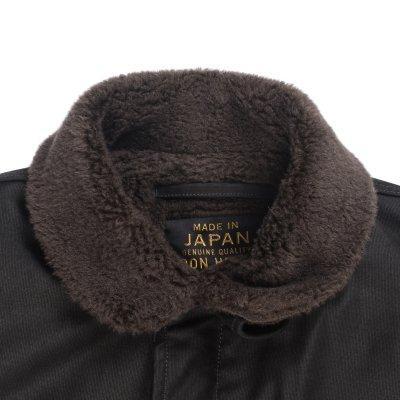 Alpaca Lined Whipcord B-2 Jacket - Black