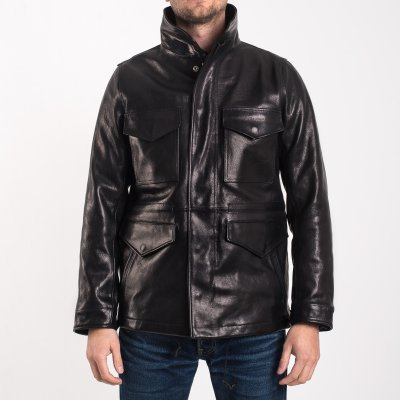Goatskin M65 Field Jacket - Black