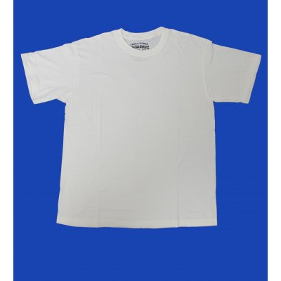 Plain White & Indigo Dyed 5.5oz Loopwheeled T-Shirt