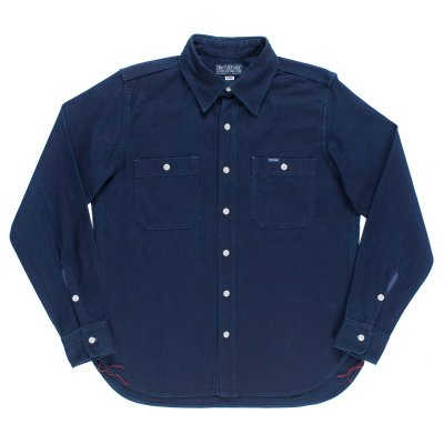 9oz Indigo Double Faced Cotton Work Shirt
