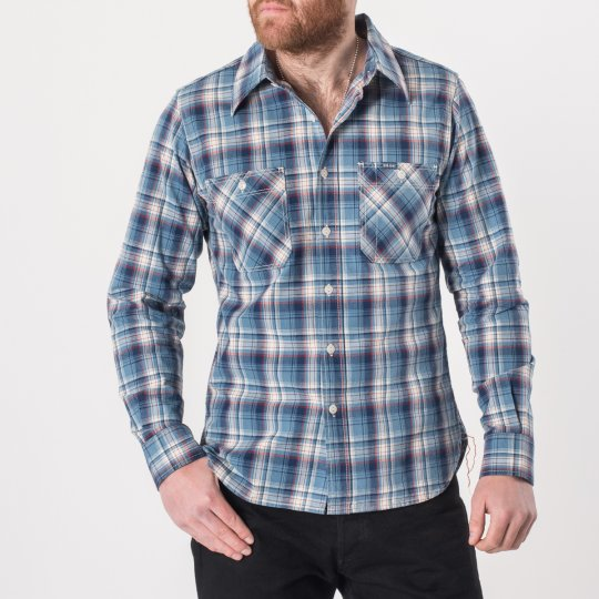 5.5oz Indigo Madras Check Work Shirt
