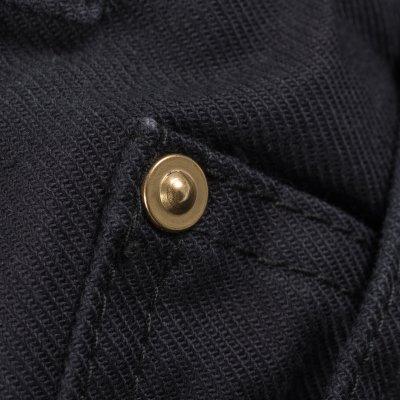 Swedish Serge Camp Shorts in Black