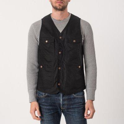 9oz Black Paraffin Coated Hunting Vest
