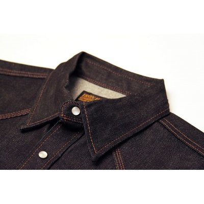12oz Raw Indigo Denim Western Shirt