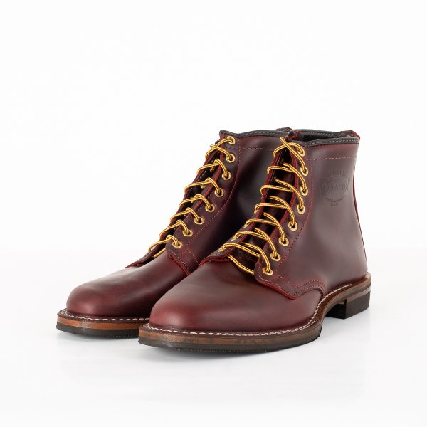 """Iron Heart Int'l x Wesco® - 7"""" Burgundy Smooth-Out Boot  - The """"Foot Patrol"""""""