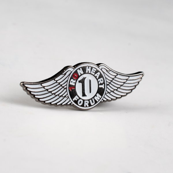 Iron Heart 10 Year Forum Anniversary Pin
