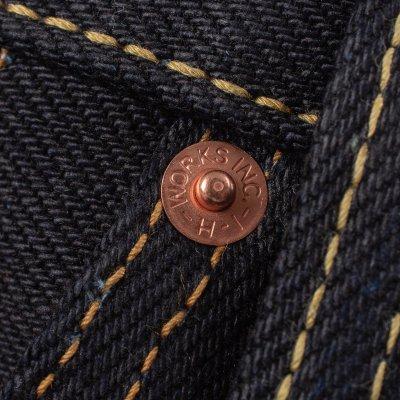 25oz Selvedge Denim Straight Cut Jeans - Indigo/Black