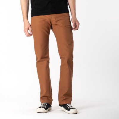 Brown 17oz Duck Slim Cut