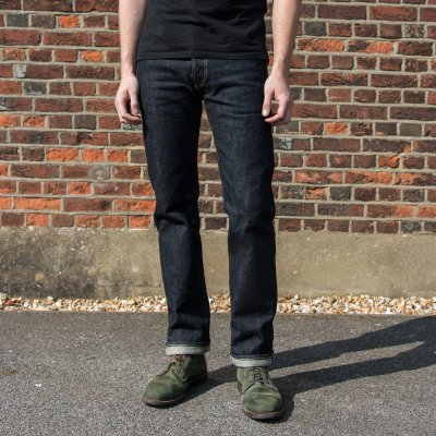 21oz Selvedge Denim Slim Straight Cut Jeans - Indigo