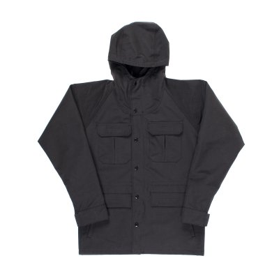 Cotton Mix Mountain Parka - Black
