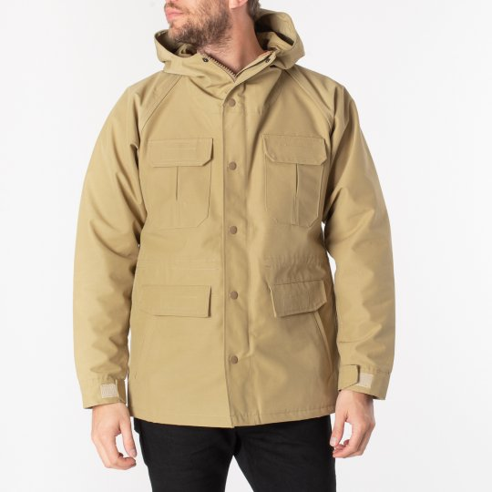 Cotton Mix Mountain Parka - Beige