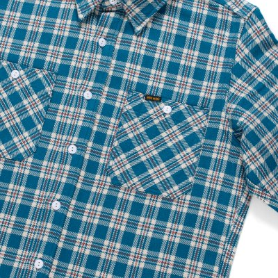 Ultra Heavy Flannel Classic Tartan Check Work Shirt - Blue