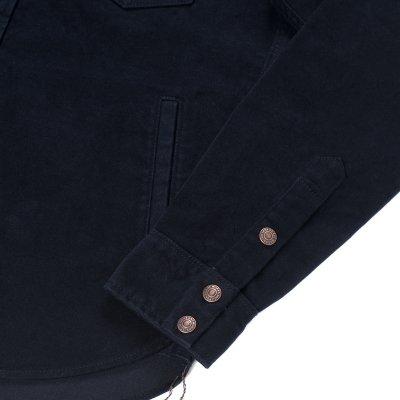 Heavy Moleskin CPO Shirt - Navy